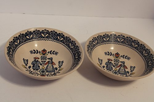 Flower Coupe Soup Bowl - Johnson Brothers Old Granite HEARTS & FLOWERS SET/2 Coupe Cereal Bowls