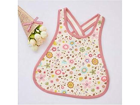 Delantal para niños pequeños Toalla para bebés pequeños Toalla Baberos para bebés Babero Drool Adecuado para niños de 0 a 3 años (Rosa) Babero infantil: ...