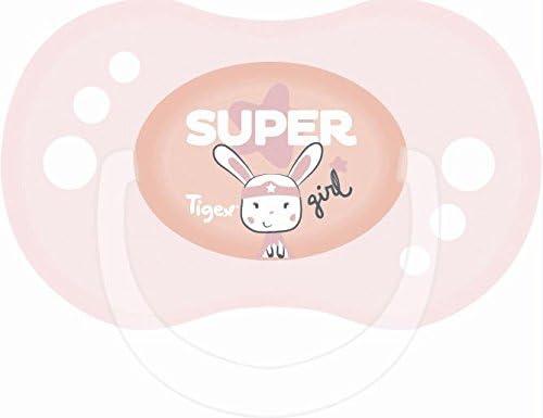 Tigex Sensitive - Pack de 2 chupetes para niñas de más de 6 meses ...