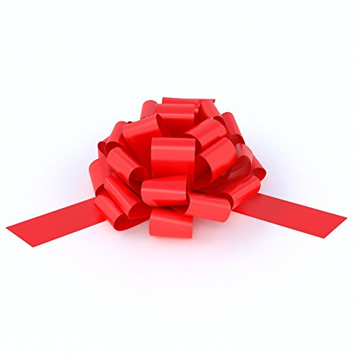 [Big Red Car Bow | 28 giant ribbon loops for your large gift decoration | Perfect Shape Guaranteed] (Weed Dealer Costume)