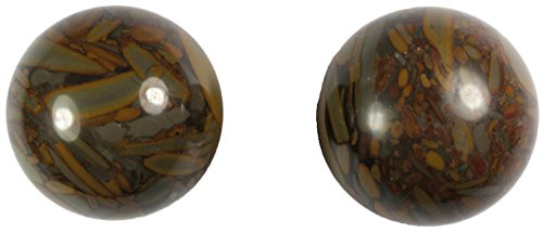 Meditation Qi-Gong-Kugeln   Yin Yang   Design Stein braun   verschiedene Durchmesser (Ø 50 mm)