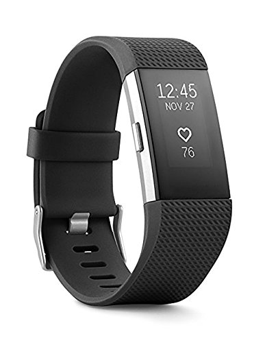 Fitbit Charge 2 Superwatch Wireless Smart Activity and Fitness Tracker + Heart Rate and Sleep Monitor Smart Wristband, Black, Small (5.5-6.7 in) (Non-Retail Packaging)