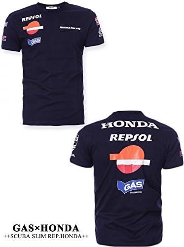 Racing Negro Parte Delantera y Trasera Repsol T Camisa para motocicleta Honda Gas: Amazon.es: Coche y moto