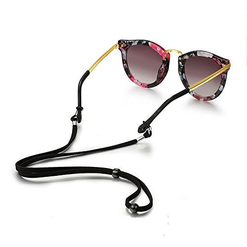 Eyeglass Strap Chain - Glasses Lanyard- Eyeglasses Holder,PU leather glasses lanyard- 4 - Eyeglass Width