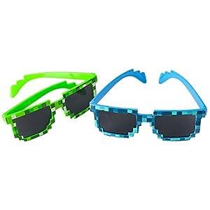 8-Bit Pixel Retro Gamer Robot Sunglasses 12 Pack