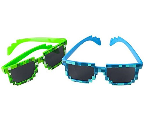 8-Bit Pixel Retro Gamer Robot Sunglasses 24 Pack -