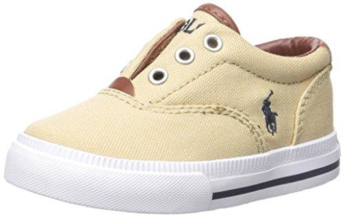 Polo Ralph Lauren Kids Kids' Vito Ii Slip-On, Khaki, 1.5 M US Little (Polo Shoes Vito)
