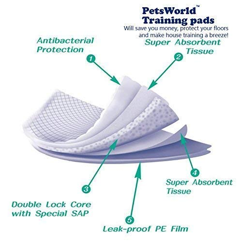 PETSWORLD XL Puppy Training Pads 300 Ct 28x34 by PETSWORLD (Image #2)