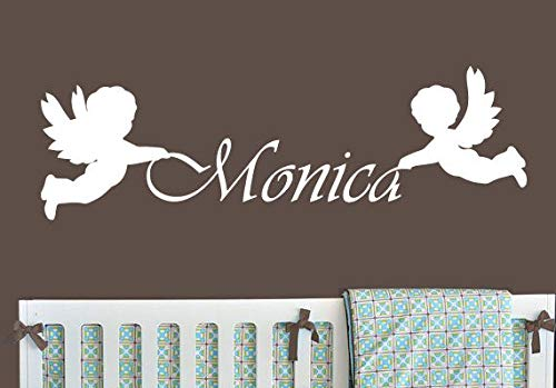 PotteLove Wall Decal Vinyl Sticker Custom Name Monogram Angels Baby Kids Children 22 Inches