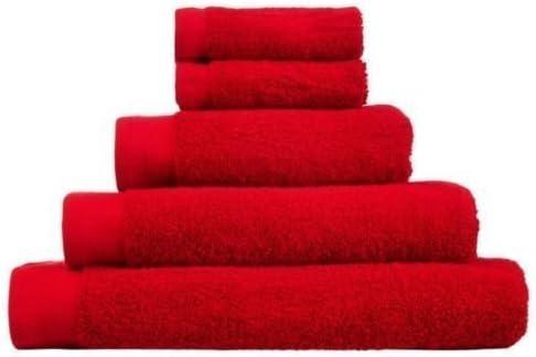 100% Algodón Rojo De lujo Peinado 500gsm Manto Rostro, Invitado Toalla, Toalla De Mano, Toalla De Baño y toalla de baño by Lizzy - Toalla de Manos: Amazon.es: Hogar