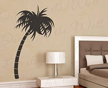 Palm Tree Wall Decal   Vinyl Graphic Silhouette Hawaii Tropical Island Art  Sticker Large Decoration Sign