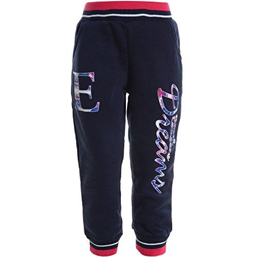 Kinder Mädchen Hose Jogging Sport Shorts Freizeit Trainings Hosen Winter 20604, Farbe:Blau;Größe:152