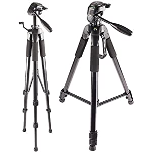72-Inch Multi-Angle Tripod with Fluid Head - For Nikon D3200, D3300, D3400, D5200, D5300, D5500, D5600, D7200, D7500, D90, D300, D500, D610, D700, D750, D800E, D810A, D850 Digital SLR Camera