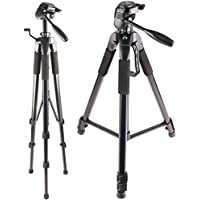 72-Inch Multi-Angle Tripod with Fluid Head For - Canon EOS Rebel T7i, T6s, T6i, SL1, SL2, T5, T5i, T4i, T3, T3i, T2i, 80D, 77D, 70D, 60D, 60Da, 50D, 40D, 7D, 6D, 5D, 5DS R, 1D Digital SLR Camera
