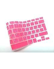 Arabic English Keyboard Cover for MacBook 13 Inch 15 Pro Air Retina(Unibody) UK/Europe Layout -Pink