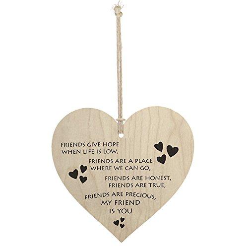 Meijiafei My Friend is You Friendship Sign Best Friend Plaque Gift Hanging Heart Sign ()