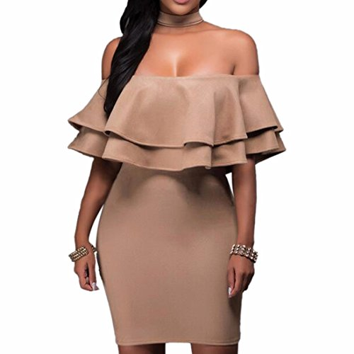Ruffles Faux Fur Off Shoulder Party Dress Bodycon Short Dress Cocktail Back Zip