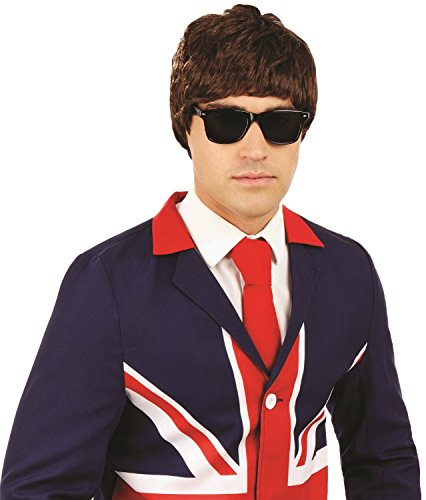 Mens 60s 1960s Mod Guy Pop Star Brit Pop Mods and Rockers Carnival UK British Fancy Dress Costume Wig Accessory ()