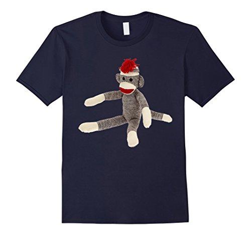 Mens Sock Monkey Tee Shirts Large Navy