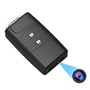 Hidden Spy Camera Keychain, Conbrov 720P HD Mini Body Camera Video Recorder with Motion Detection and Night Vision, Built-in 800mAH Battery Supports 1 Year Recording Standby Time (Video Only)