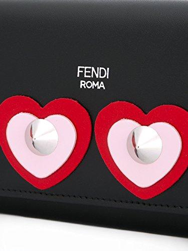 Pochette Cuir Artificielle Noir MCF 8M0365SFBF07NX Fendi Femme w0fxqFYgg