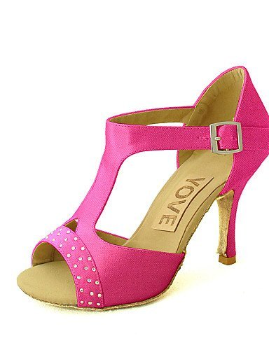 Shoes Customized Salsa Dance Blue Pink Black Heel Satin Yellow White Red Women's Latin Purple Yellow ShangYi Customizable qxBwn0Bt