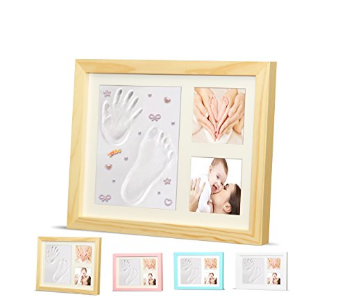 Gifts Unique Ideas Baby Shower - Timeless Newborn Baby Hand and Footprint Kit and Frame – Adorable Baby Keepsake Gift for New Moms, Dads, and Grandparents – Unique Baby Shower Gifts – Perfect for Baby Boy and Girl Room Decor by Ninos