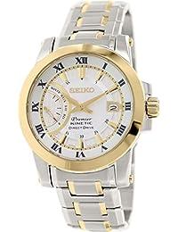 Seiko Mens PREMIER Kinetic Direct Drive Analog Dress Kinetic Watch (Imported) SRG010P1