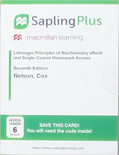 Amazon sapling plus for lehninger principles of biochemistry sapling plus for lehninger principles of biochemistry six month access 7th edition fandeluxe Gallery