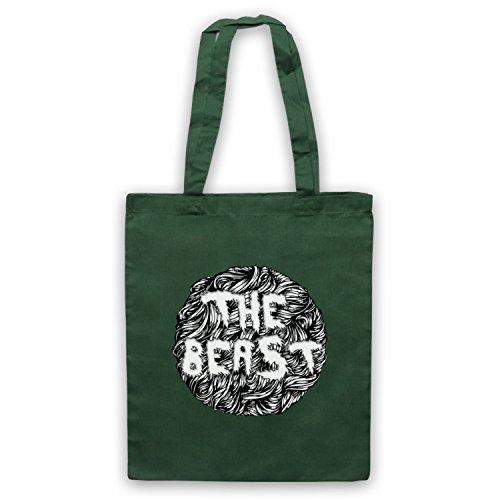The Beast Slogan Dark Green Bag