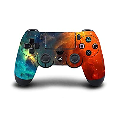 SKINOWN® PS4 Controller Skin Cosmic Nebular Sticker Vinly Decal Cover for Sony PlayStation 4 DualShock Wireless Controller by SKINOWN