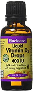 Bluebonnet Liquid Vitamin D3 Drops 400 IU, Citrus, 1 Ounce