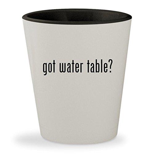 got water table? - White Outer & Black Inner Ceramic 1.5oz