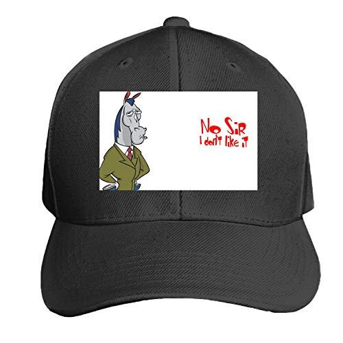 Ren and Stimpy No Sir I Don T Like It Printed Sandwich Baseball Cap for Unisex Adjustable Hat
