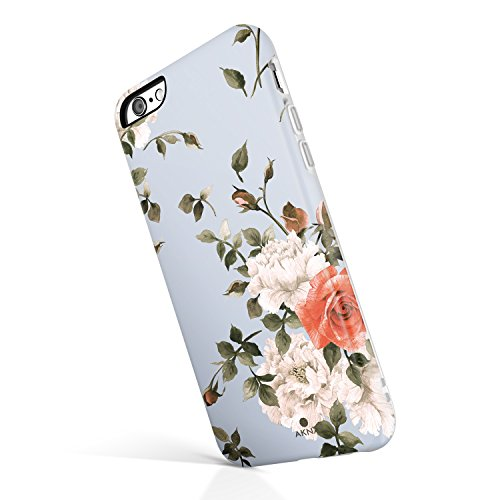 iPhone 6/6s case Floral, Akna Collection High Impact Flexible Silicon Case for Both iPhone 6 & iPhone 6s [Cashmere Blue Floral](772-U.S) by Akna