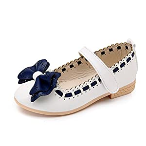 Spring Princess Kids Shoes Girls Shoes Korean Style Cute Bowknot Soft Sole Flat PU Leather Children Shoes Girls Dress Shoes Pink 11