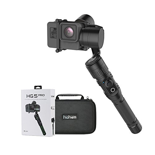 Hohem Handheld 3-Axis Gimbal Stabilizer Support APP Wireless Remote Control for GoPro Hero5 Hero4 Xiaomi Yi 4K and Other Action Cameras with Similar Dimensions (Black)
