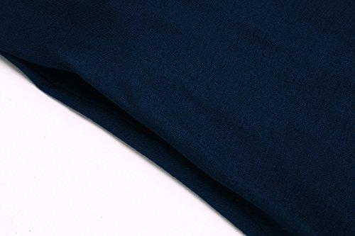 Abiti Allentato Altalena Donne Tunica shirt Blu Casuale T Le Con Abito Delle Bluetime Tasche 2navy BgqErgw