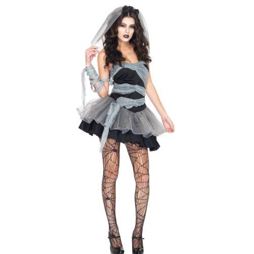 HÖTER ZOMBIE Corpse Bride Ladies Halloween Ghost Fancy]()