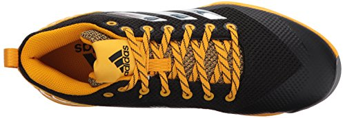 adidas Herren PowerAlley 5 TPU Baseballschuh Kern Schwarz, Silber Met., Collegiate Gold