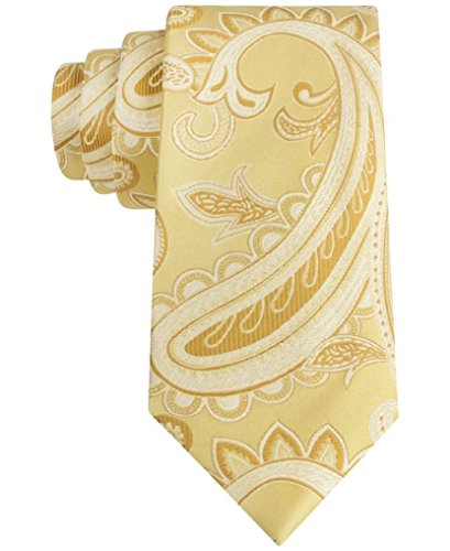 Sean John Rich Paisley Tie (One Size, Gold)