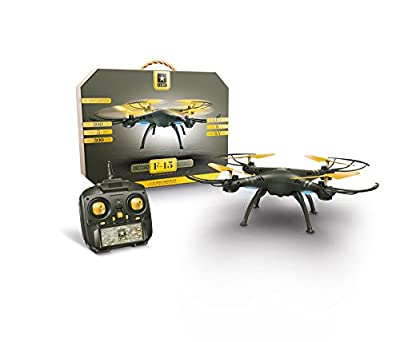 US Army Stunt Drone+ with Aerial Assistance+Auto Land+Auto Take off+360 Degree Flips+LED lights+Headless Mode+Long flying Time+ Spare set of Propellers + Great Drone For Beginner and Expert Pilots