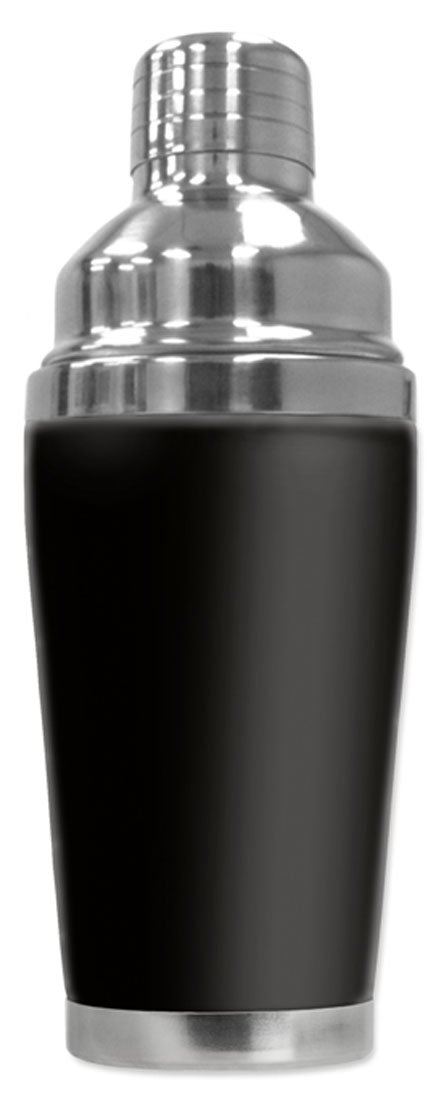 Mugzie brand 20 Ounce Cocktail Shaker with Insulated Wetsuit Cover - Black