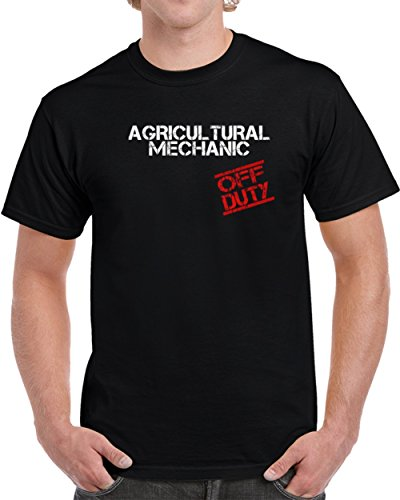 Agricultural Mechanic off Duty Job Unisex T Shirt S Black