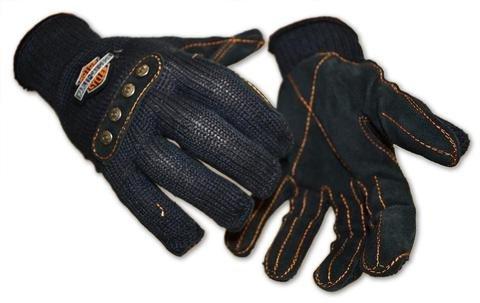 (Harley-Davidson Kevlar Stitched CUT-RESISTANT Leather Palm Gloves (L) New )