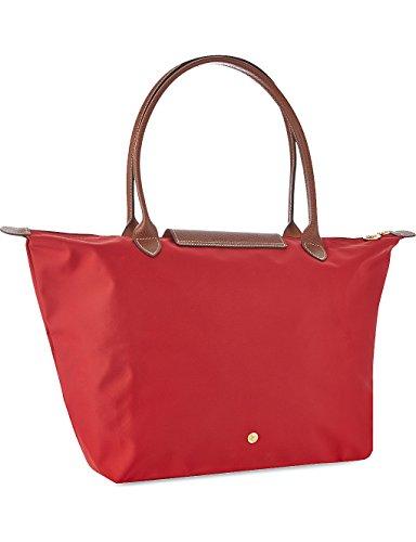 Longchamp - Bolsa de Sintético Mujer, color Rojo, talla 19x30x31 cm (B x H x T): Amazon.es: Zapatos y complementos