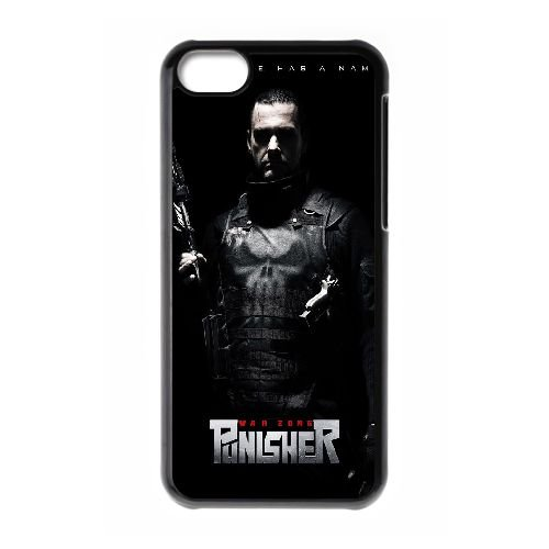 L7T42 zone de guerre punisher cas de couverture de téléphone coque iPhone C2J5KD 5c Cell coque noire IF5IYT6IN