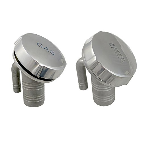 White Water Stainless Deck Fill with Breathable Cap and Internal Vent-50⁰ Angle (6005S-ACV - Gas) ()