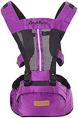 Purple Baby Sling Backpack Pouch Wrap 0-30 Months Baby Carrier Front Facing Multifunctional Infant Kangaroo Bag