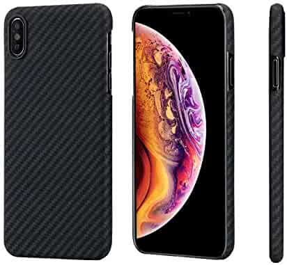 iPhone Xs Max Case,PITAKA Magcase Aramid Fiber 6.5 Inch [Real Body Armor Material] Phone Case,Slim Fit Minimalist Strongest Durable Snugly Fit Snap-on Case for iPhone Xs Max 6.5
